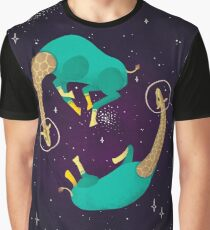 Space Giraffes Graphic T-Shirt