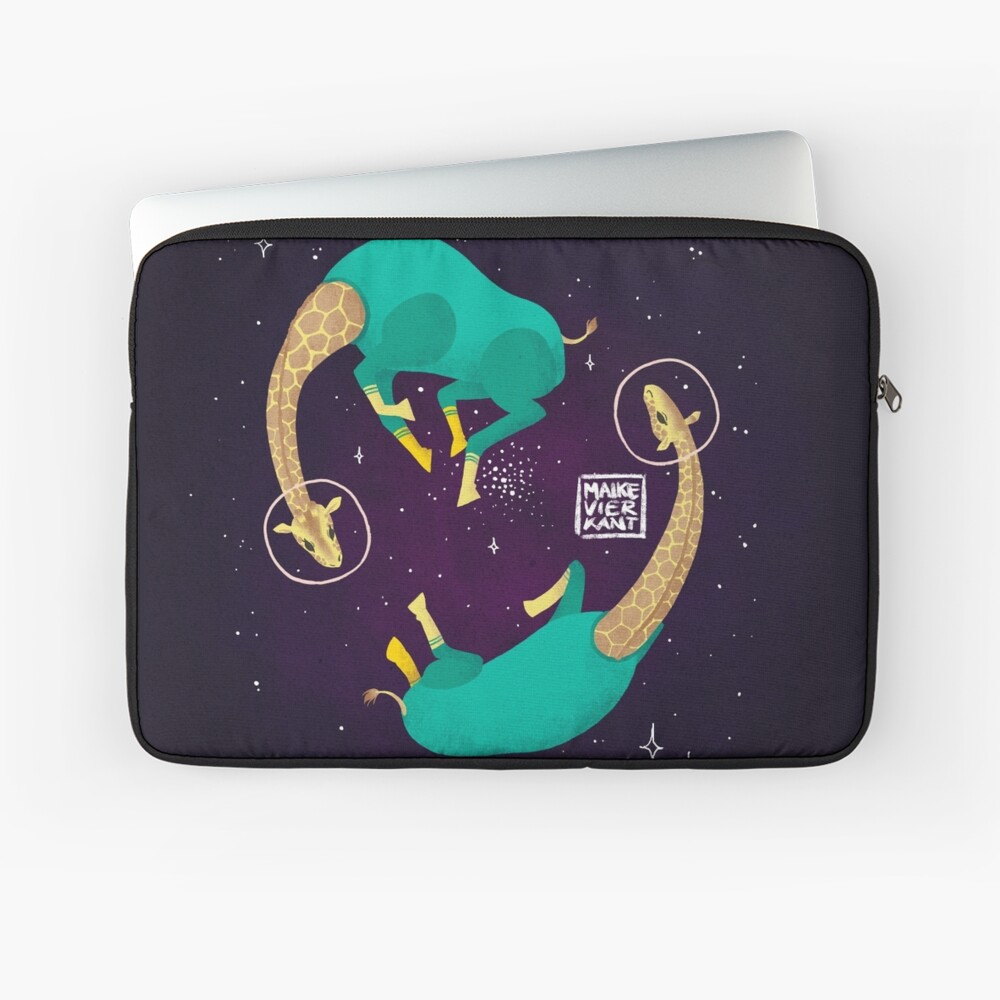 Space Giraffes Laptop Sleeve