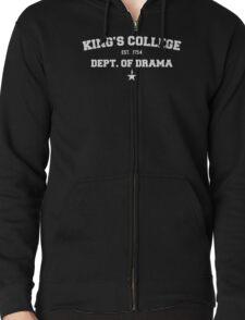 king's college Zipped Hoodie