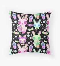 Brain Freeze Bunnies Throw Pillow