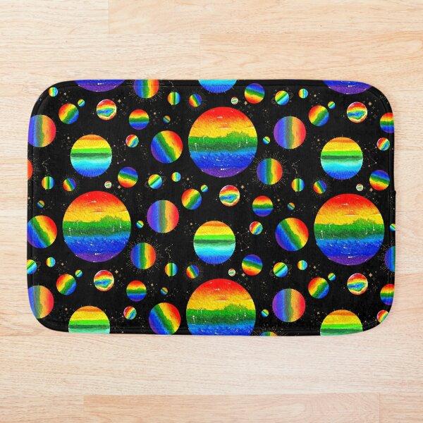 Rainbow Planets Bath Mat
