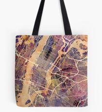 New York City Straßenkarte Tote Bag