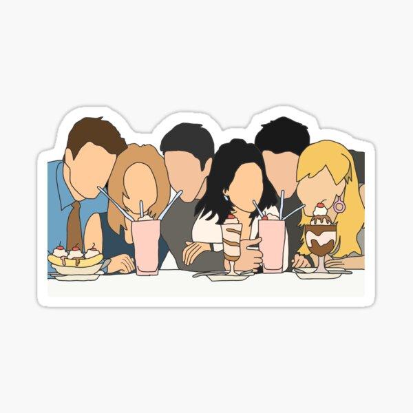drinking coffee  Sticker