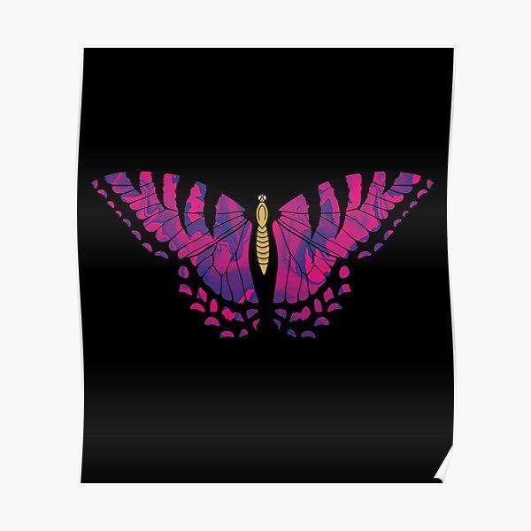 Tie Dye Butterfly Poster