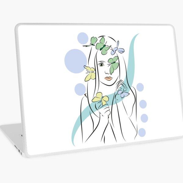 Modern Woman- Line Art Laptop Skin