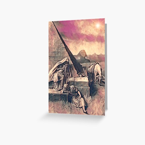The Escape to Egypt Greeting Card