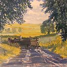 After Rain on Wolds Way by Glenn Marshall