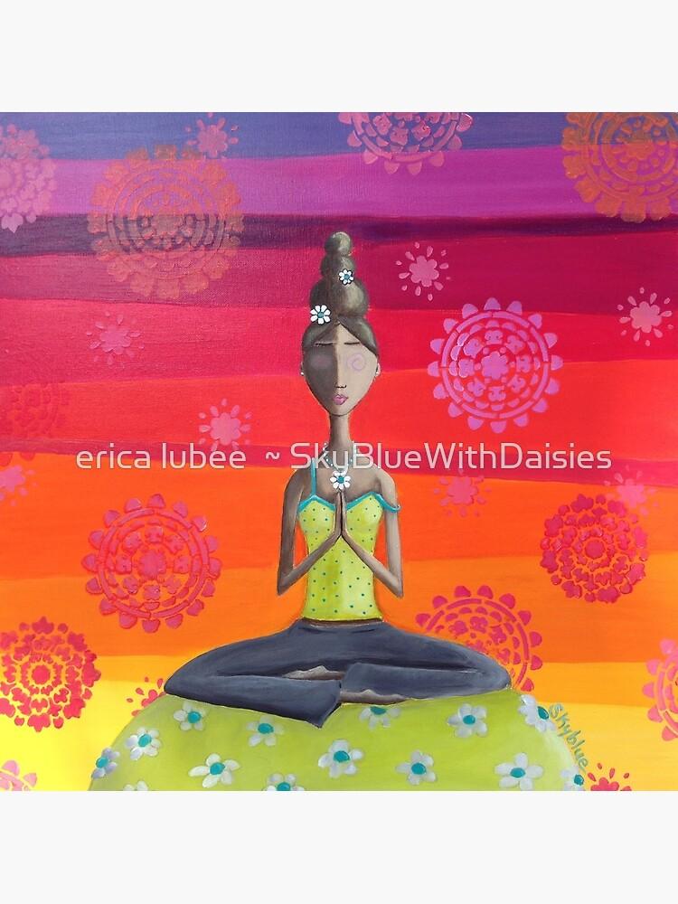 «Fille Zen sous le ciel de l'arc-en-ciel - Art Yoga coloré» par skyblue32