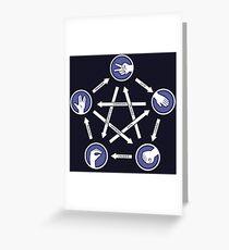 Paper-scissors-rock-lizard-spock! Greeting Card