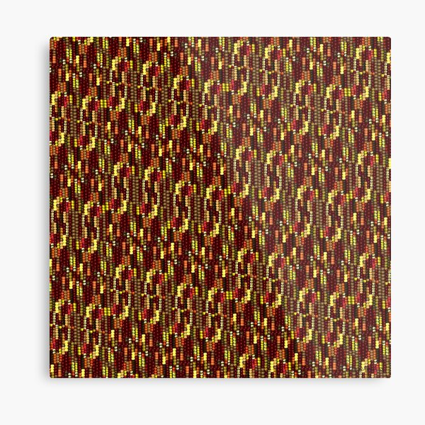 Indian Corn Pattern for Autumn Metal Print