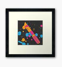 Darth Vader Lightsaber Paint Splatter (Full Color) Framed Print