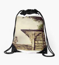 Detail, Hoe Cottage, Polruan Drawstring Bag