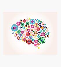 Abstract human brain, creative Photographic Print