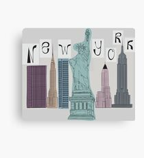 symbols of New York Canvas Print
