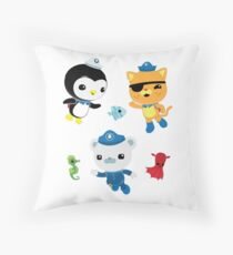 Octonauts, to your stations! Throw Pillow