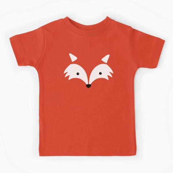 Minimal Fox Face T Shirt Kids T-Shirt