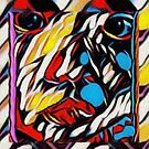 Colourful Face and Weave. by David Bath