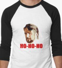 Hans Gruber. Ho Ho Ho. Christmas Design Men's Baseball ¾ T-Shirt