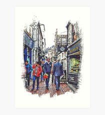 Lunchtime in The Lanes Brighton Art Print