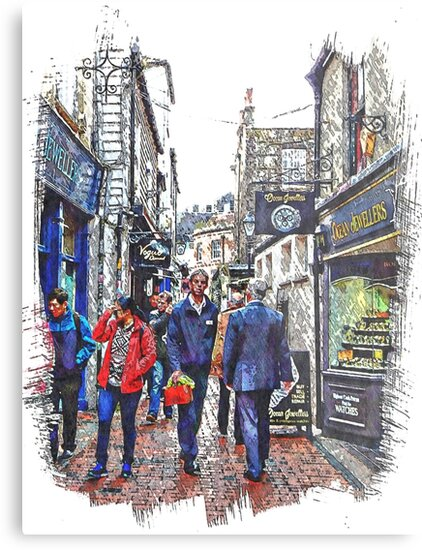 Lunchtime in The Lanes Brighton by Dorothy Berry-Lound
