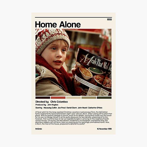 Home alone (1990) minimalist movie Photographic Print