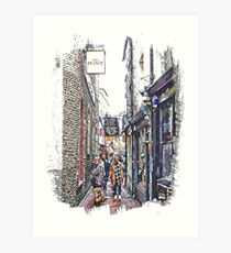 Shopping in The Lanes Brighton Art Print