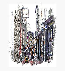 Shopping in The Lanes Brighton Photographic Print