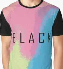 Colour Black Graphic T-Shirt