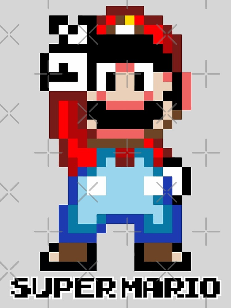 Super Mario 16 bit Victory Pose by djdna