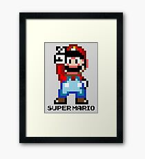 Super Mario 16 bit Victory Pose Framed Print