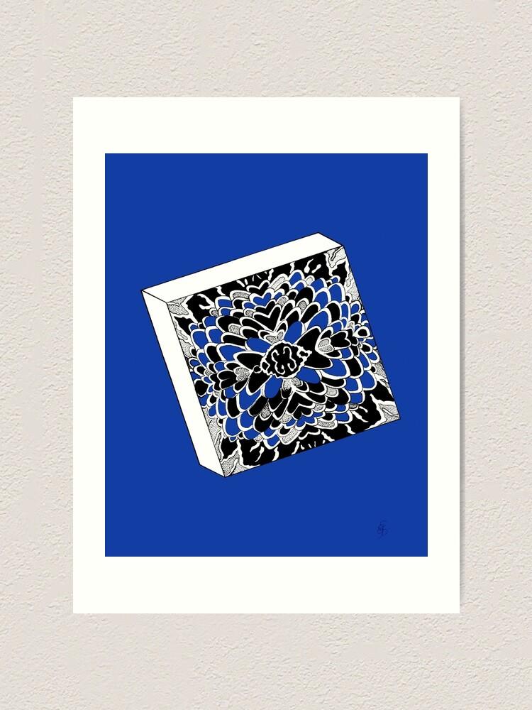 Alternative Ansicht von Der Würfel in königsblau- The dice in royal blue Kunstdruck