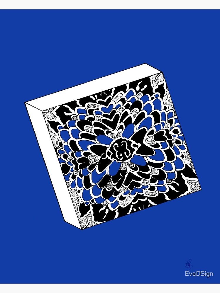 Der Würfel in königsblau- The dice in royal blue von EvaDSign