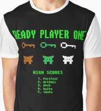 Ready Player One 8-Bit Game High Five Graphic T-Shirt