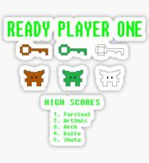 Ready Player One 8-Bit Game High Five Sticker