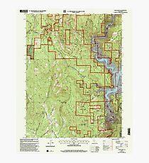 USGS TOPO Map California CA Challenge 100026 2000 24000 geo Photographic Print
