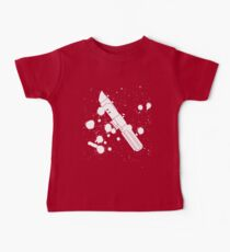 Darth Vader Lightsaber Paint Splatter (Black and White) Kids Clothes