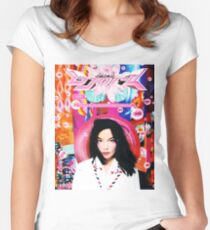 BJORK TOURS 1 Women's Fitted Scoop T-Shirt