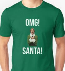 OMG SANTA! Funny Elf Christmas  T-Shirt