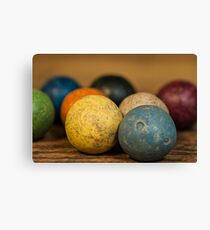 Clay Marbles Canvas Print