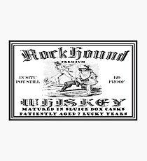 Rockhound Whiskey Photographic Print