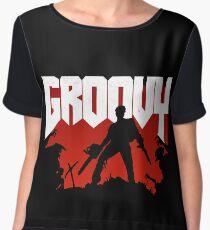 Doomy and Groovy Women's Chiffon Top