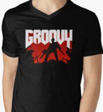 Doomy and Groovy Men's V-Neck T-Shirt