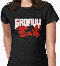 Doomy and Groovy Women's Fitted T-Shirt