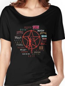 Rush Evolution of Logo Adult T-shirt Women's Relaxed Fit T-Shirt