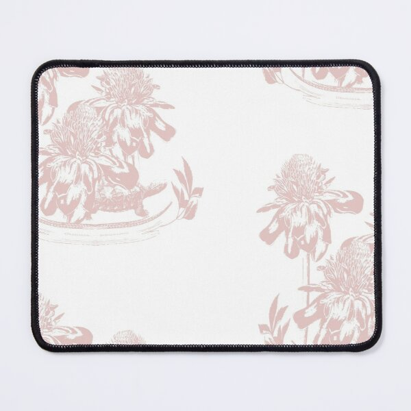 White Torch Ginger in Peachy Pink Mouse Pad