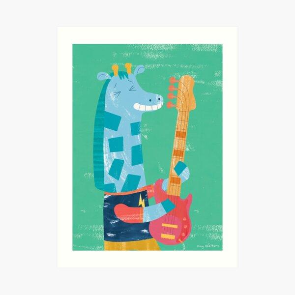 Animal Band - Giraffe Art Print