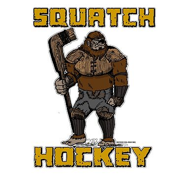 Squatch hockey by fistofmonkey67