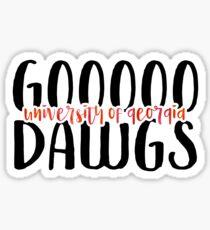 University of Georgia - Style 9 Sticker