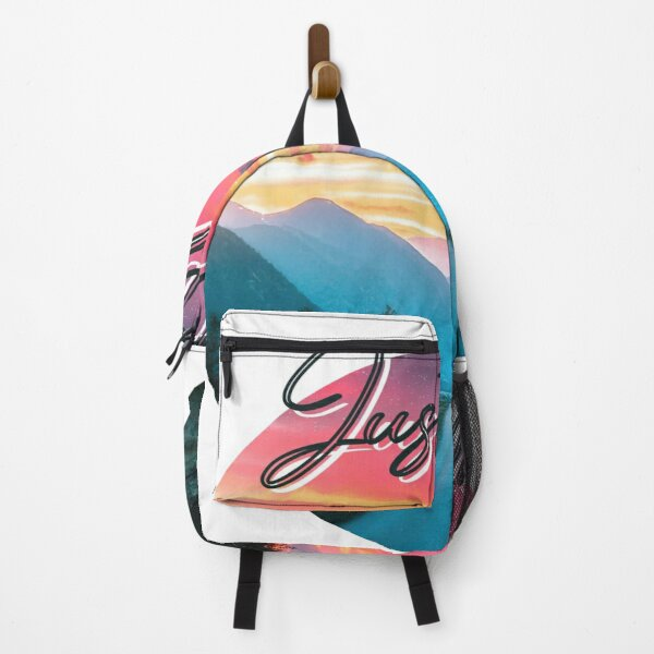 """""""Just Go"""" in wonderful sunset mode and road  Backpack"""