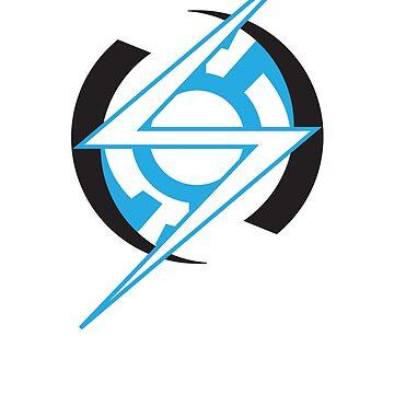Minimal Blue Lantern Flash by DarksideEric